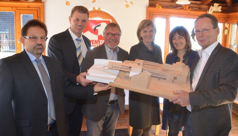 Neubau der buffet gastronomie im alpenzoo innsbruck for Architekt gastronomie